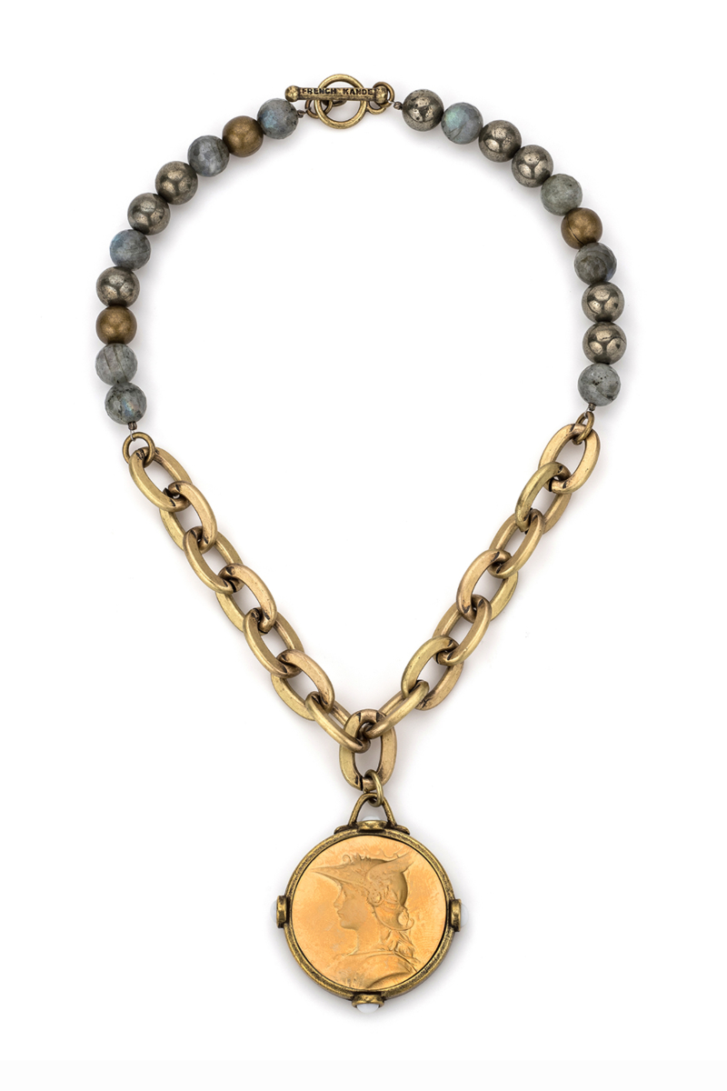 COASTAL MIX WITH LOURDES CHAIN AND MINISTRY MEDALLION