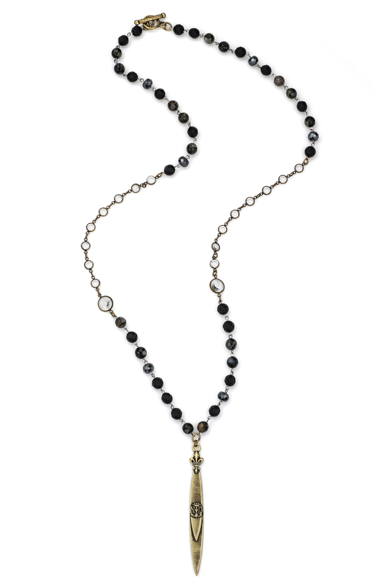 NUIT MIX WITH SILVER WIRE, SWAROVSKI AND POINTU PENDANT