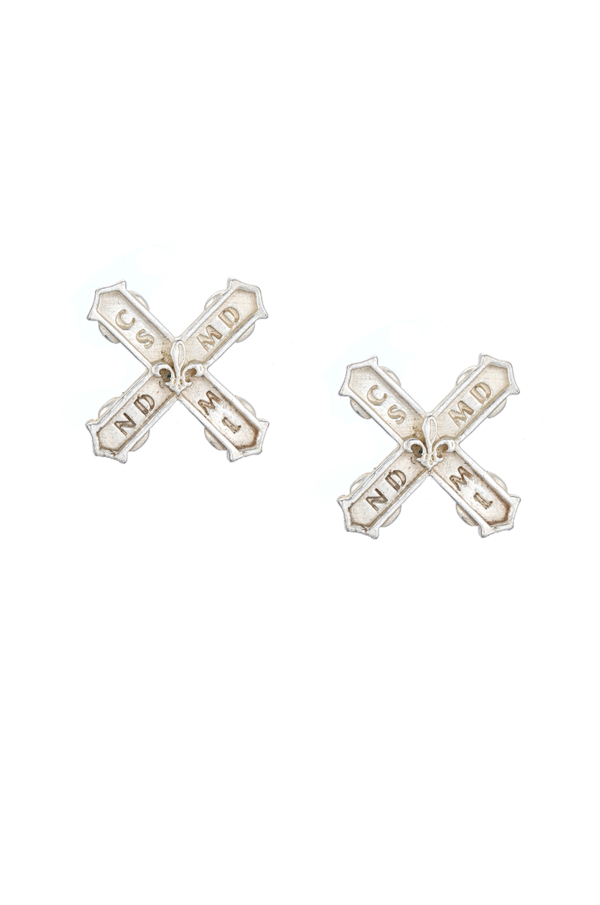 PETITE FRENCH KISS EARRINGS SILVER
