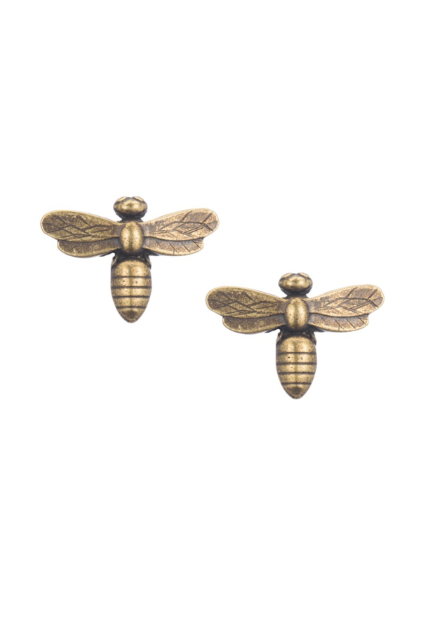BRASS MIEL STUD EARRINGS
