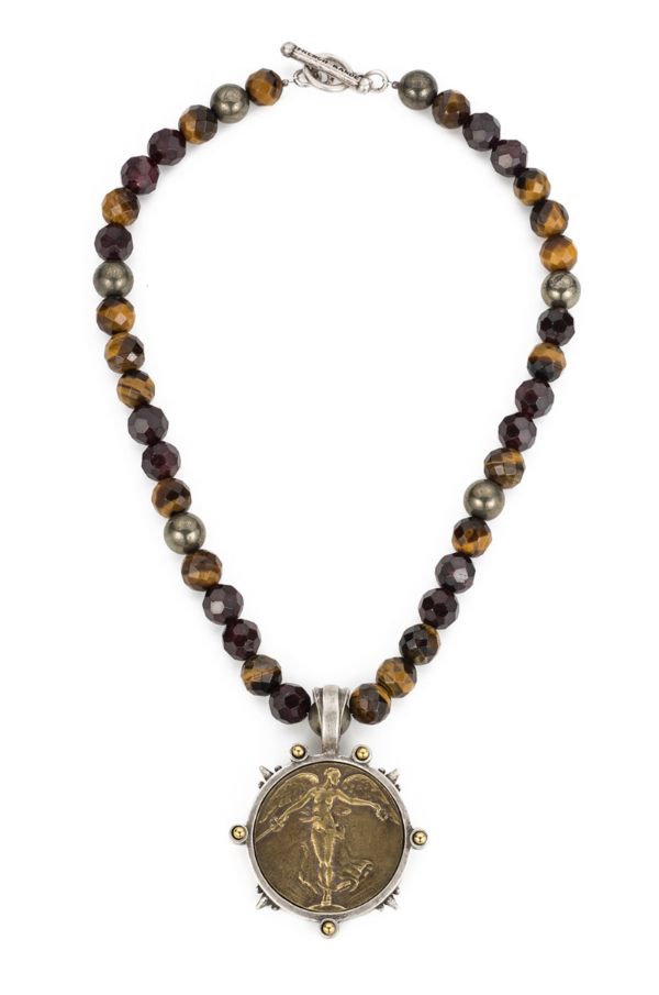 TIGER'S EYE MIX WITH L'ANGE MEDALLION
