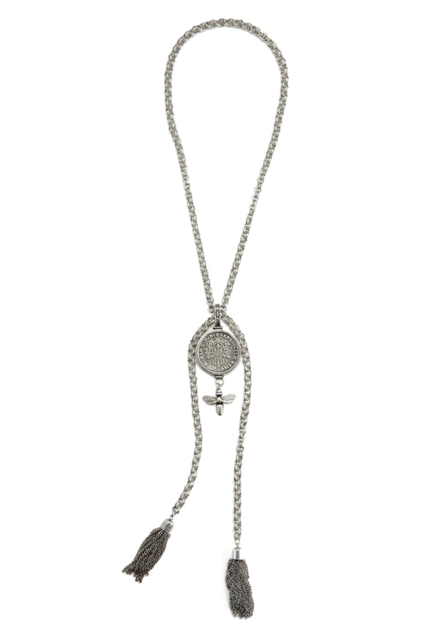 PROVENCE CHAIN WITH DOMINI MEDALLION, MIEL DANGLE AND TASSELS