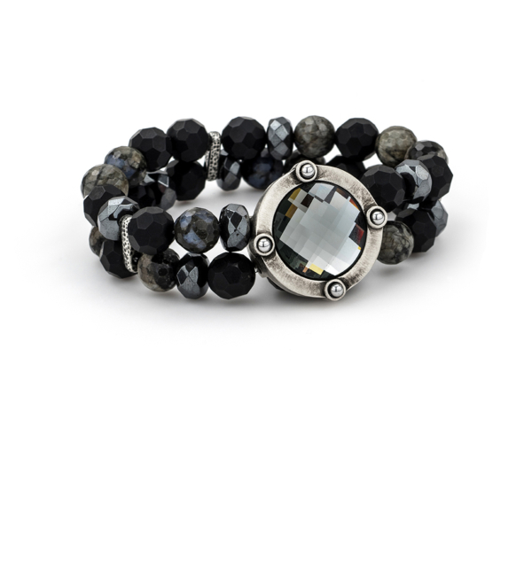 DOUBLE STRAND NUIT MIX AND BLACK DIAMOND SWAROVSKI