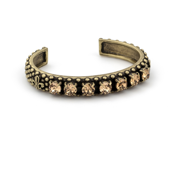 LIGHT COLORADO SWAROVSKI FLEUR DE LIS BANGLE