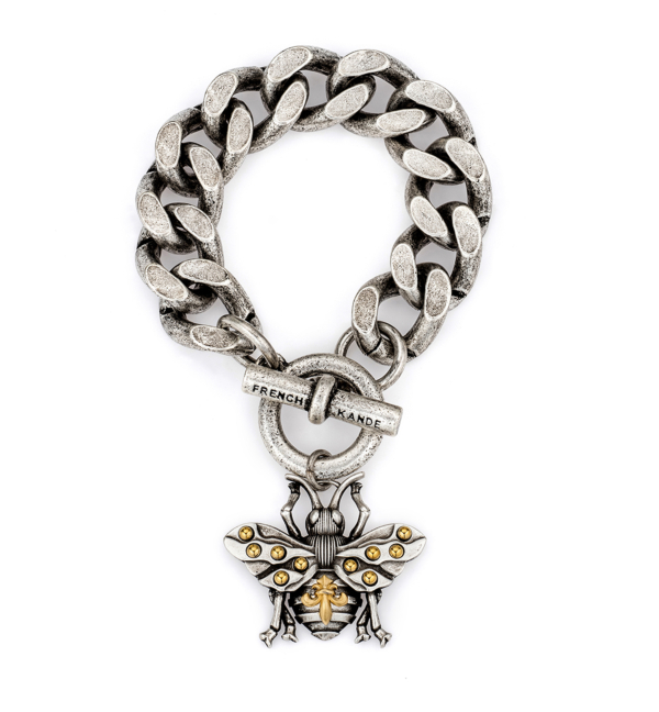 BEVEL CHAIN WITH FK BEE PENDANT