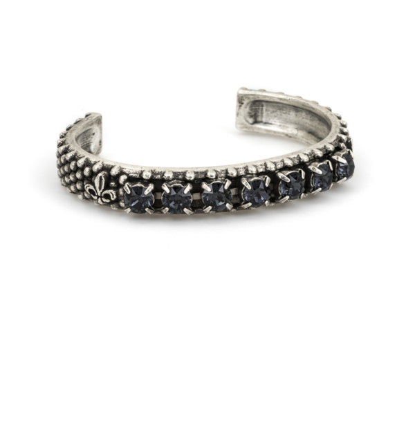 GRAPHITE SWAROVSKI BANGLE