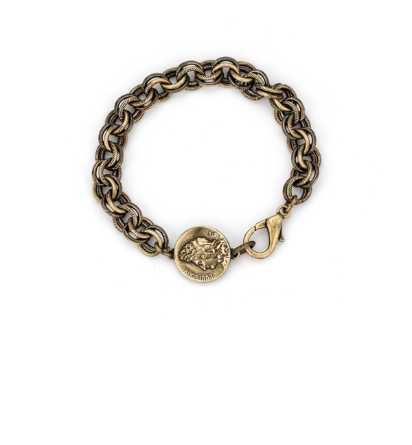 PROVENCE CHAIN WITH MINI LOUIS MEDALLION BRASS