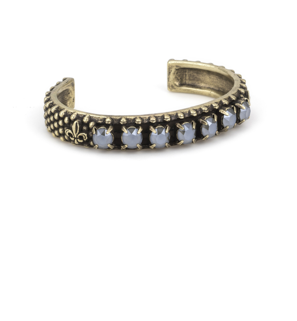 BRASS GRIS SWAROVSKI BANGLE