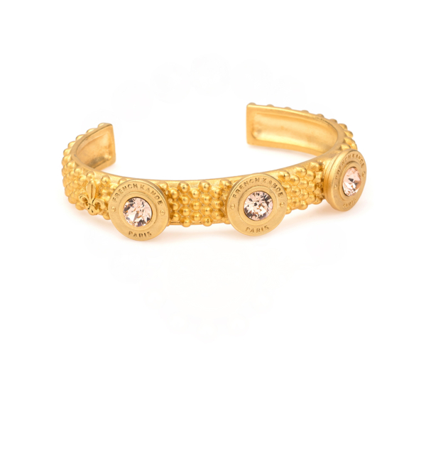 FEROU CUFF WITH LIGHT PEACH SWAROVSKI ANNECY PENDANTS