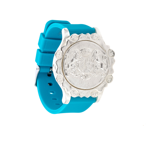 TURQUOISE SPORT KANDE BRACELET WITH AIME MEDALLION