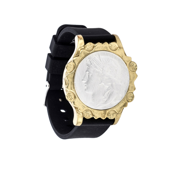 BLACK SPORT KANDE BRACELET WITH DUPUIS MEDALLION