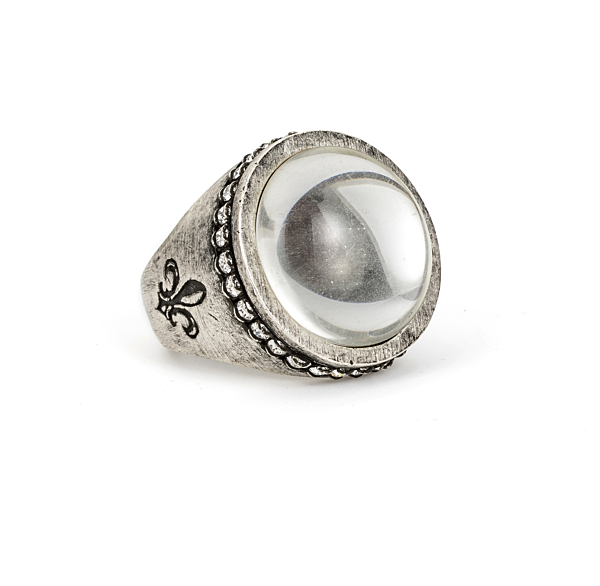 SWAROVSKI SIGNET RING WITH CRYSTAL CABOCHON