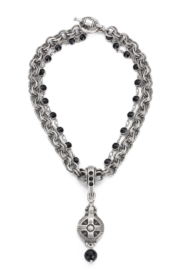 PROVENCE CHAIN WITH SWAROVSKI, DUNKERQUE MEDALLION AND TASSEL