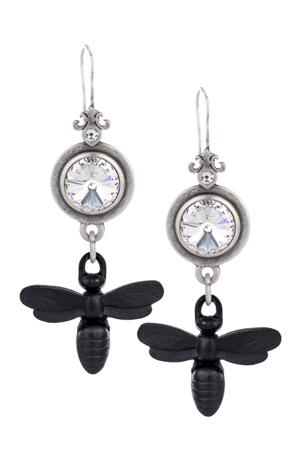 PREFERE EARRINGS WITH SWAROVSKI AND MIEL DANGLE