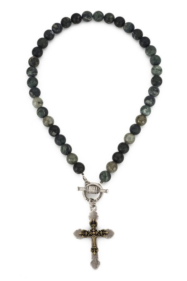 MOSS SERPENTINE WITH DOUBLE CROSS MEDALLION
