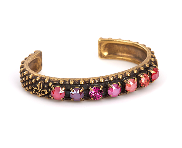 SOLEIL SWAROVSKI BANGLE, BRASS