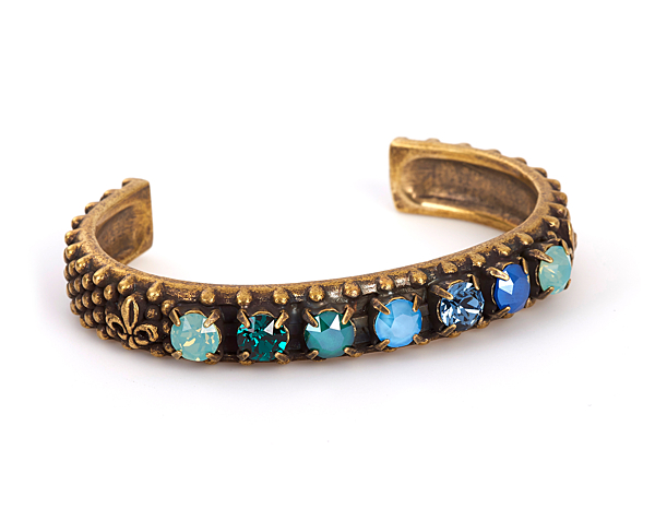 LA MER SWAROVSKI BANGLE, BRASS