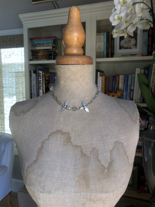 VERSAILLES CHAIN WITH CLOUDY QUARTZ ACCENTS AND MIEL PENDANTS