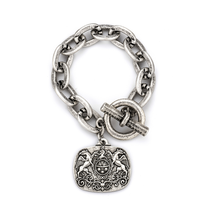 SILVER LOURDES CHAIN WITH MOLLIARD MEDALLION