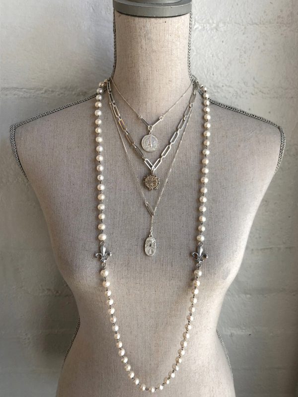JULY STACK SILVER, INCLUDES ALL FOUR NECKLACES