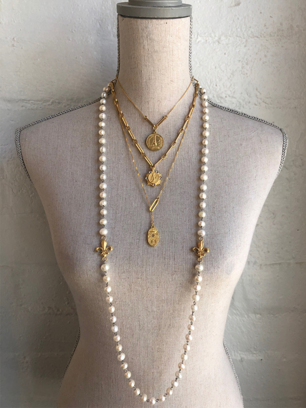JULY STACK GOLD, INCLUDES ALL FOUR NECKLACES