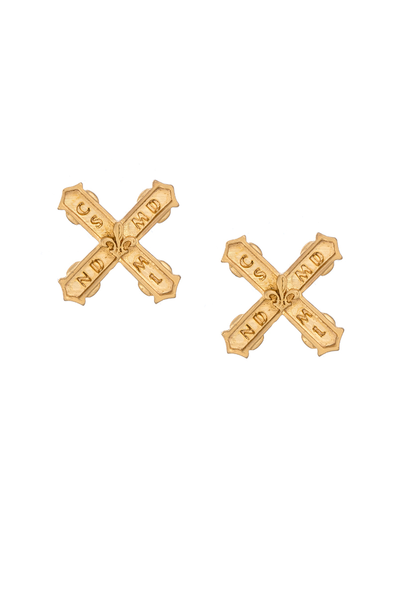 PETITE FRENCH KISS EARRINGS GOLD