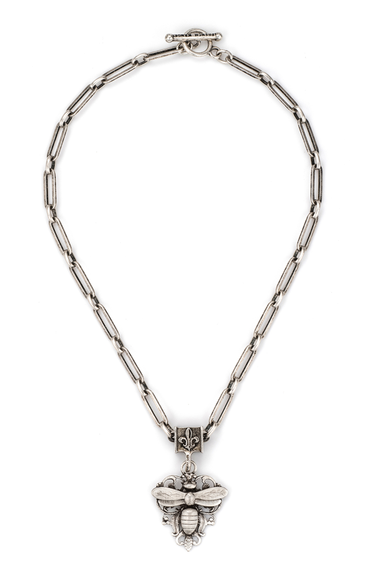 VERSAILLES CHAIN WITH FRENCH FILIGREE MIEL STACK PENDANT