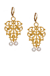 FRENCH FILIGREE EARRINGS WITH PEARL DANGLES