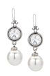 PREFERE EARRINGS WITH SWAROVSKI AND HUGE PEARL DANGLE