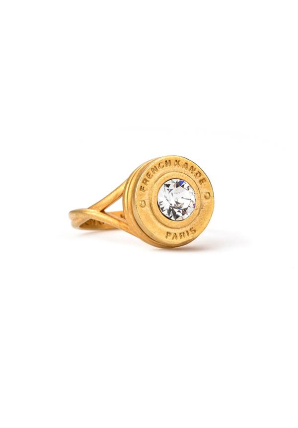 SWAROVSKI ANNECY SWIRL RING GOLD