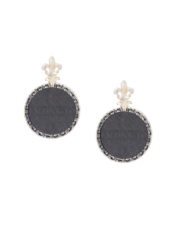 NOIR LA ROCHELLE EARRINGS SILVER