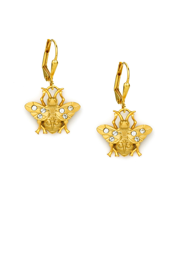 MICRO FK BEE EARRINGS GOLD