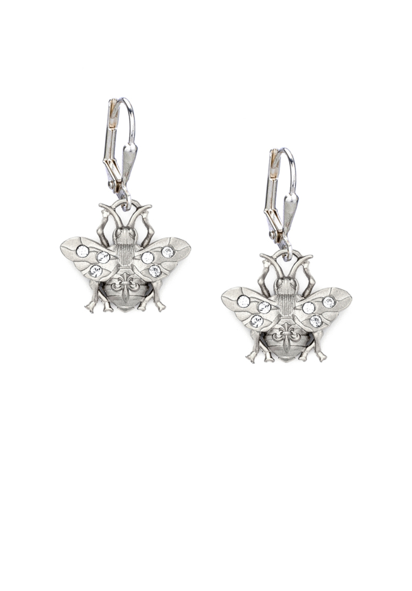 MICRO FK BEE EARRINGS SILVER