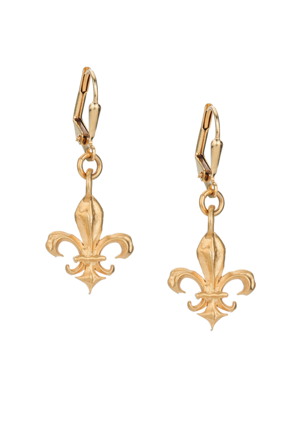 MICRO FK FLEUR EARRINGS GOLD