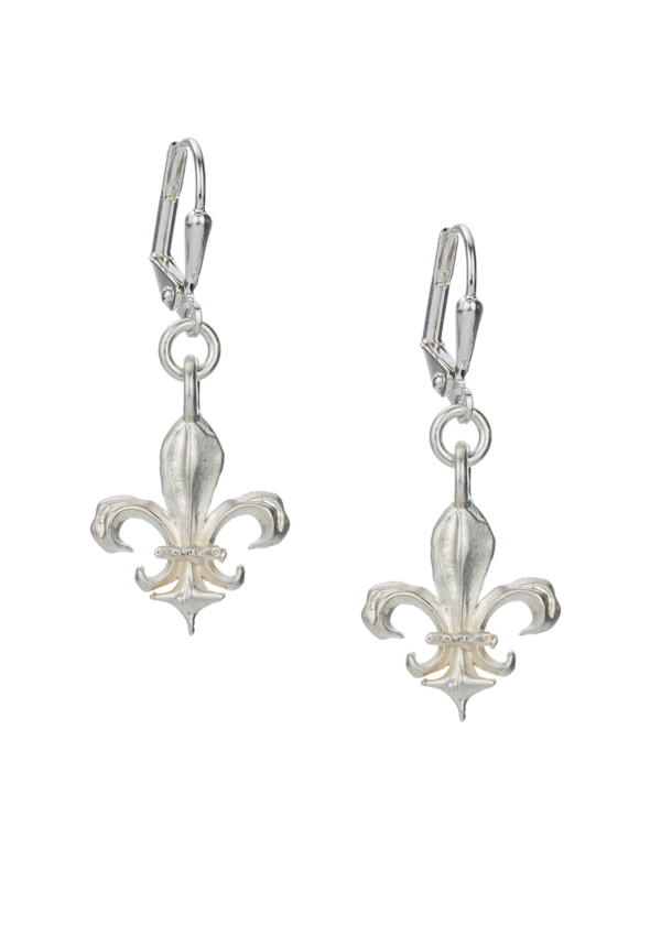 MICRO FK FLEUR EARRINGS SILVER