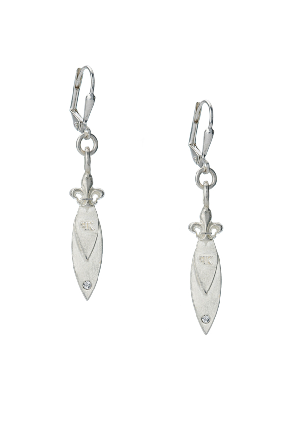 MICRO POINTU EARRINGS SILVER