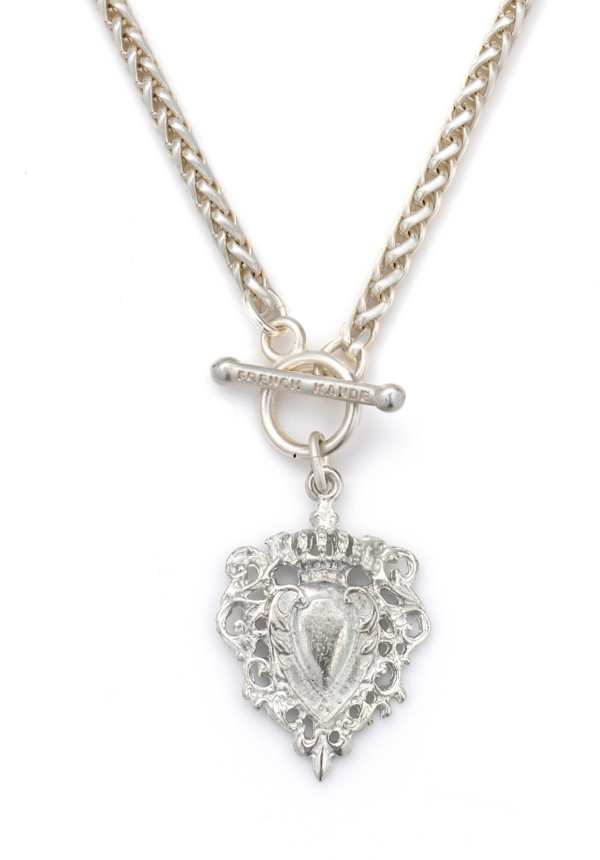 FOB CHEVAL NECKLACE SILVER
