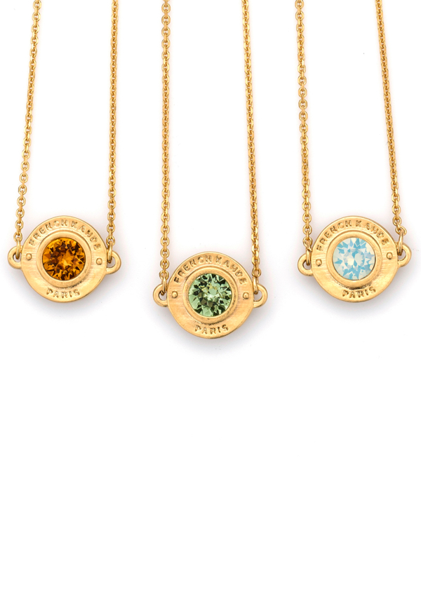 BIRTHSTONE ANNECY NECKLACE GOLD