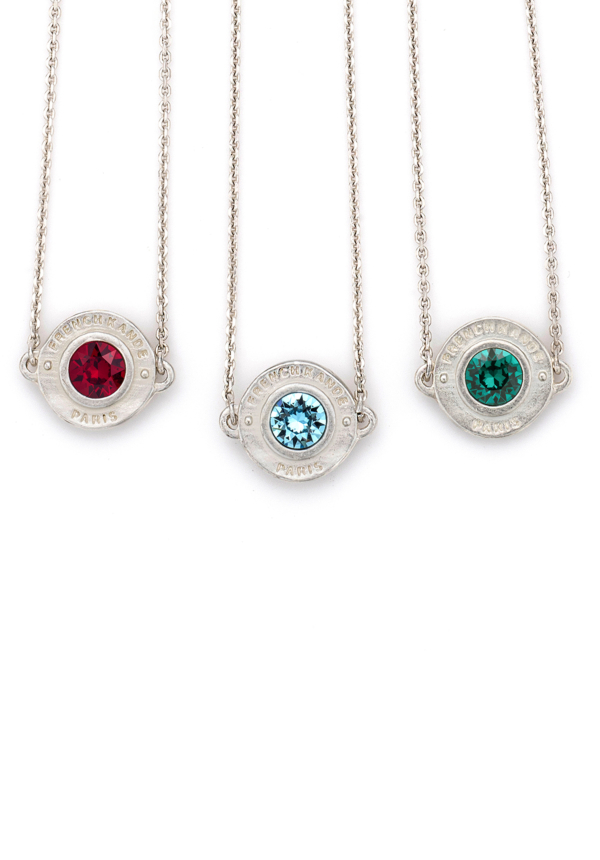 BIRTHSTONE ANNECY NECKLACE SILVER