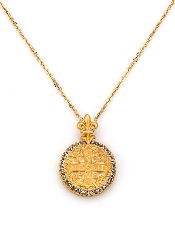 GOLD LA ROCHELLE NECKLACE WITH CHOICE OF MEDALLION