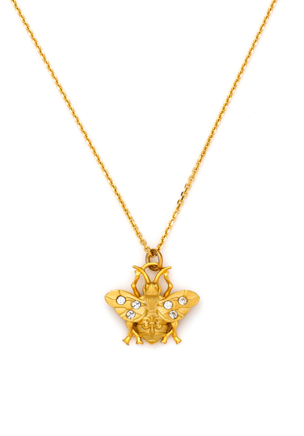 MICRO FK BEE NECKLACE GOLD