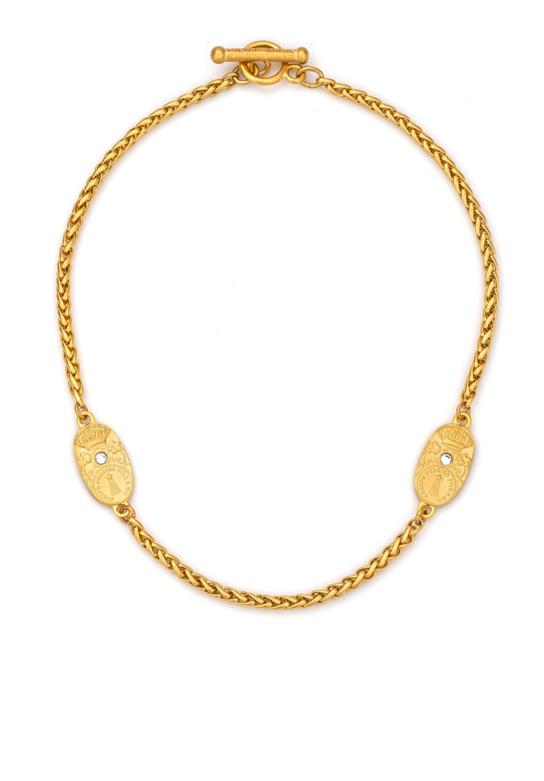 TWIN CUVEE CHEVAL CHOKER GOLD