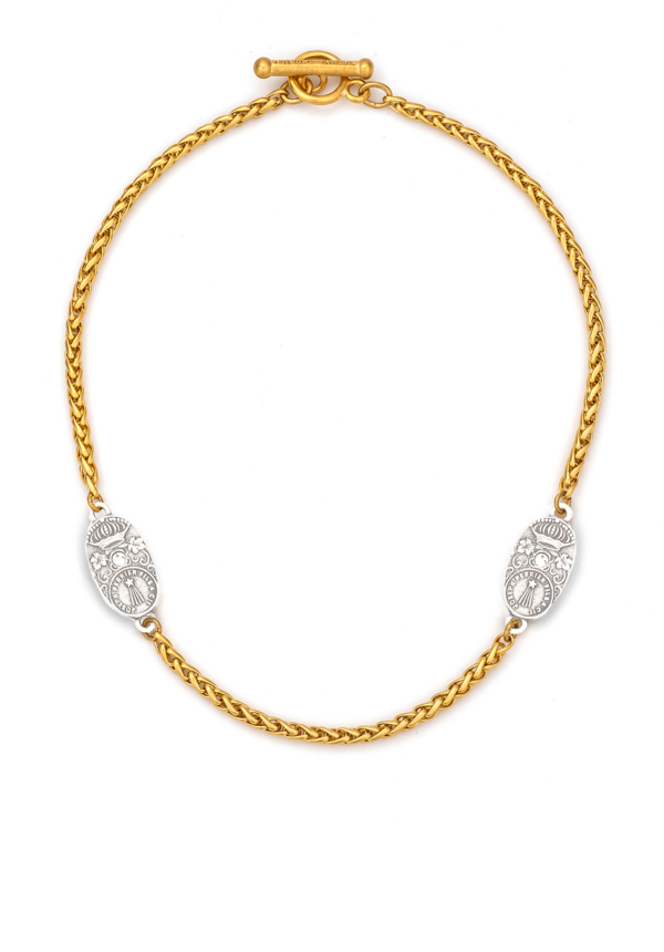TWIN MIXED METAL CUVEE CHEVAL CHOKER GOLD
