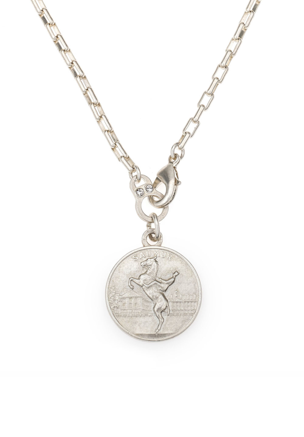 LOIRE NECKLACE WITH CHOICE OF MEDALLION SILVER