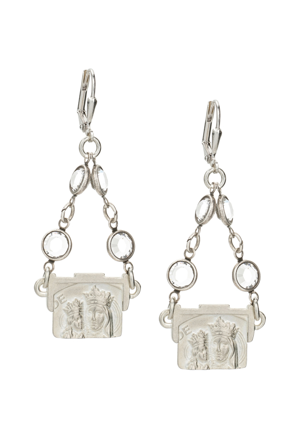 SWAROVSKI ST. ANNE EARRINGS SILVER