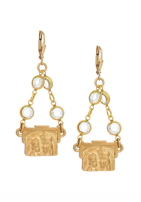 SWAROVSKI ST. ANNE EARRINGS GOLD