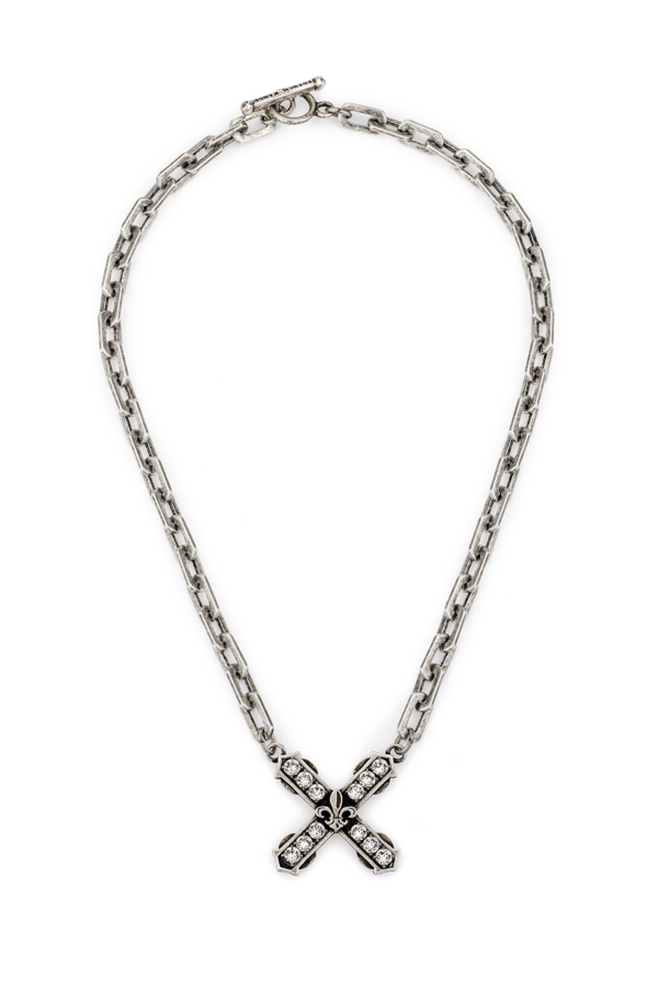 HONFLEUR CHAIN WITH SWAROVSKI FRENCH KISS PENDANT