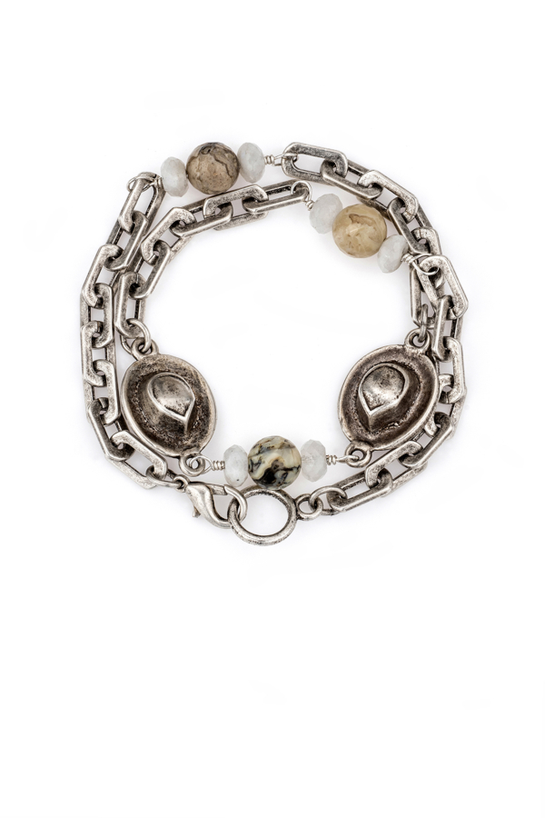 HONFLEUR CHAIN WITH LA LUNE MIX ACCENTS AND FK COWBOY HATS