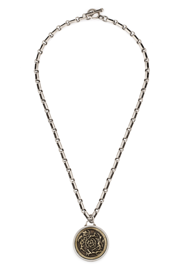 BORDEAUX CHAIN WITH CHOICE OF BRASS MEDALLION