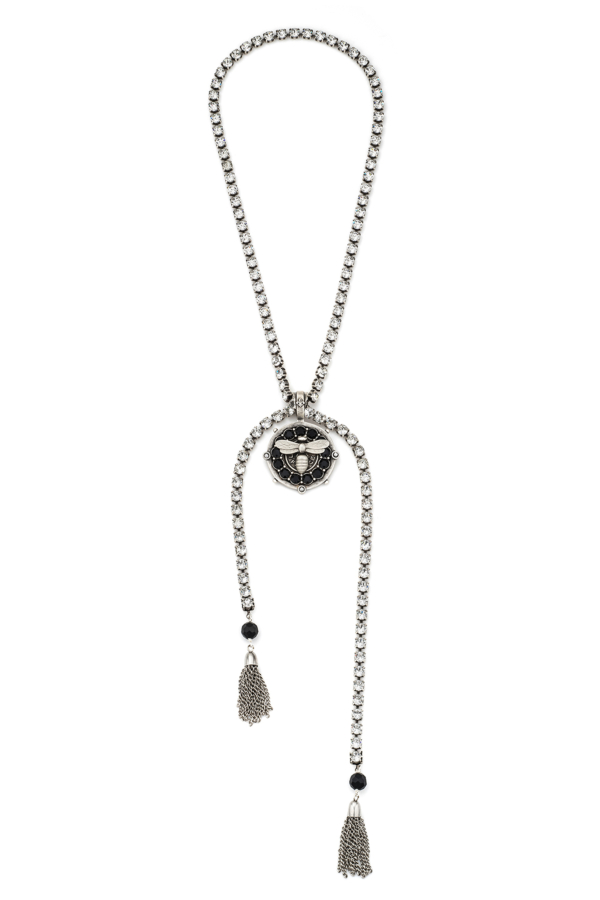 SWAROVSKI LARIAT WITH MIEL MEDALLION AND SWAROVSKI